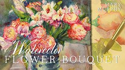 Watercolor Flower Bouquet Craftsy Review